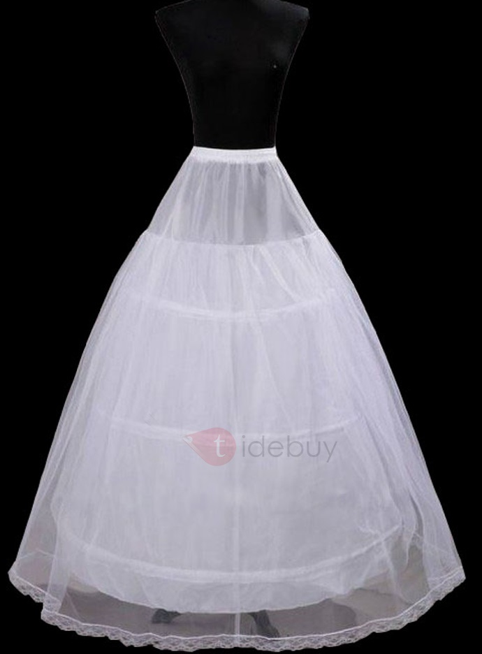 Three Steel Loops with Double Layers Gauze Ball Gown Wedding Petticoats