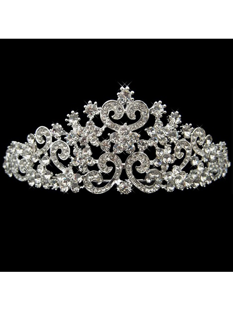Graceful Alloy with Rhinestone Top Grade Wedding Bridal Tiara