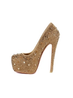 Shining Platform Stiletto Heels Closed-toe Prom/Evening Spike Shoes