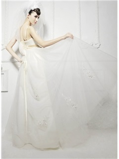 Excellent Elbow Wedding Veil With Lace Applique Edge and Pearl