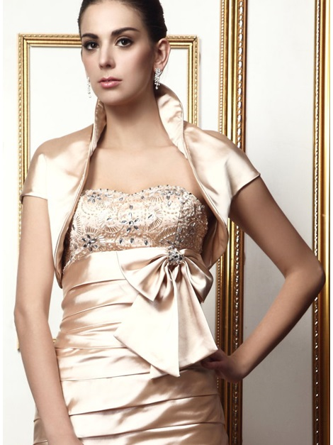 Stand-collar Short Lady's Evening/Wedding Jacket