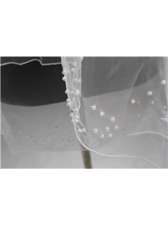 Elbow Tull Wedding Bridal Veil with rhinestone