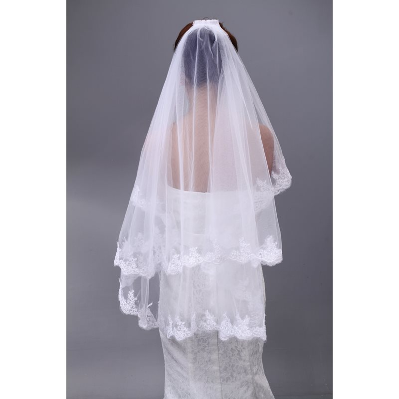 Elegant Tidebuy Applique Tulle Wedding Bridal Veil фото
