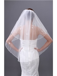 Two Layers Wedding Brail Veil with Beads