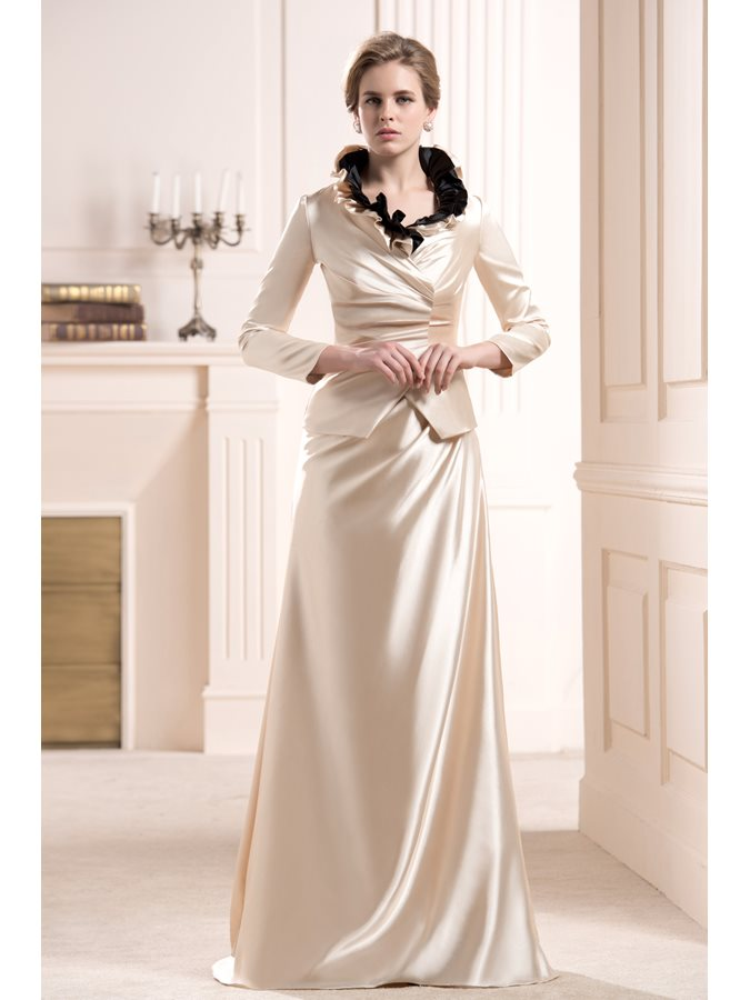 Ruffles Sheath Sleeveless Mother of the Bride Dress