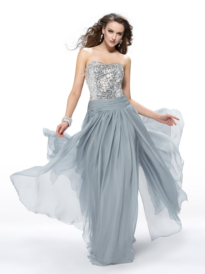 Extravagant A-Line Sweetheart Beading Sequins Prom Dress Designed