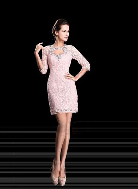 Sheath Lace Short Length Formal Dress Tidebuy