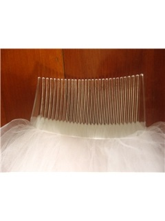 Excellent Tulle Elbow Beads Wedding Veil