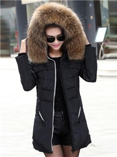 New Hooded Long Sleeve Thick Overcoat