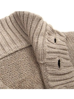Loose Leisure Single-Breasted Men's Sweater