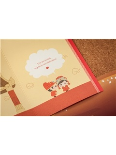 Bride & Groom Style Z-Fold Invitation Cards (20 Pieces One Set)