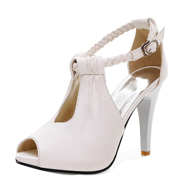 tidebuy / Peep-toe Ankle Strap Stiletto Heel Sandals
