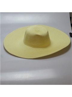 Solid Color with Wide Brim Sun Hat