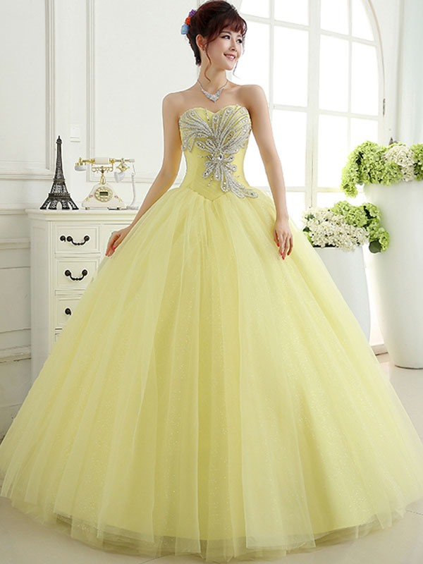 dfd09991ba4 Pretty Ball Gown Sweetheart Crystal Sequins Lace-up Quinceanera Dress    Tidebuy.com
