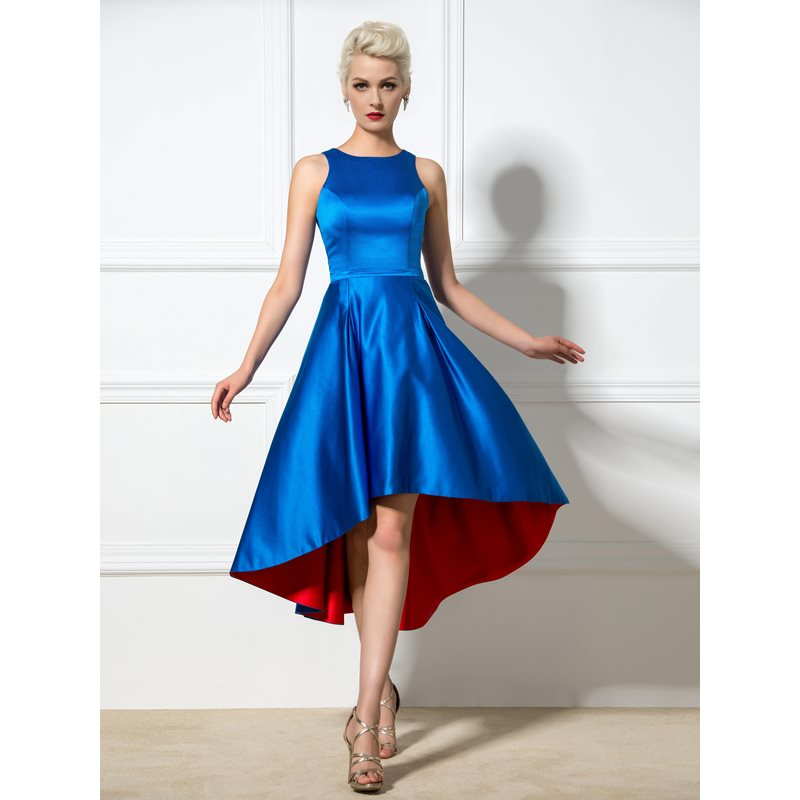 A-Line Straps Hollow High Low Cocktail Dress