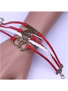 Simple Heart and Life Tree Designed Alloy Bracelet