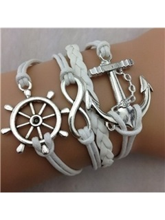 Anchor & Infinity Decorated Friend Bracelet 1