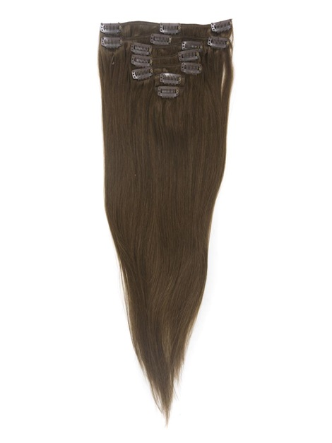 Natural Straight 7PCS Clip in Human Hair Extensions