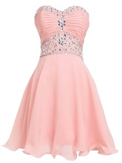 Stunning Sweetheart Beading Pleats Homecoming Dress
