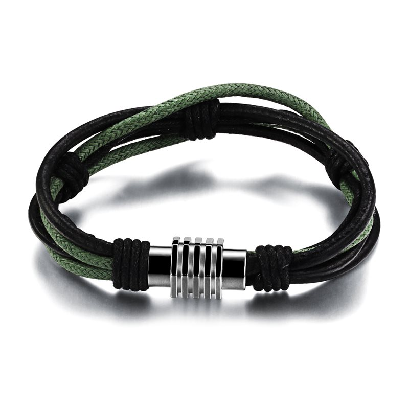 Multi-layer Mens Bracelet
