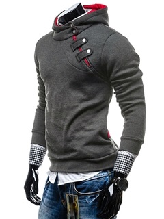 High Quality Fashion Solid Long Sleeve Men's Hoodie