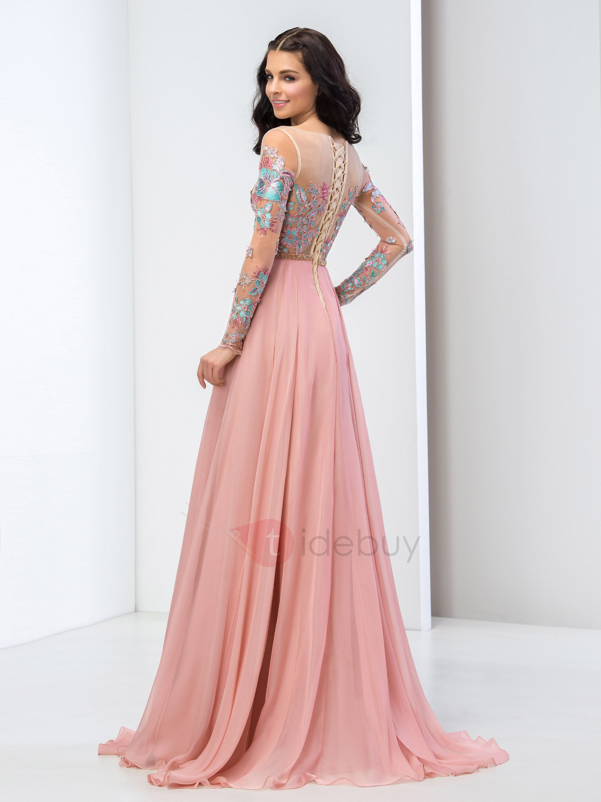Long sleeve formal gowns and evening dresses floor length