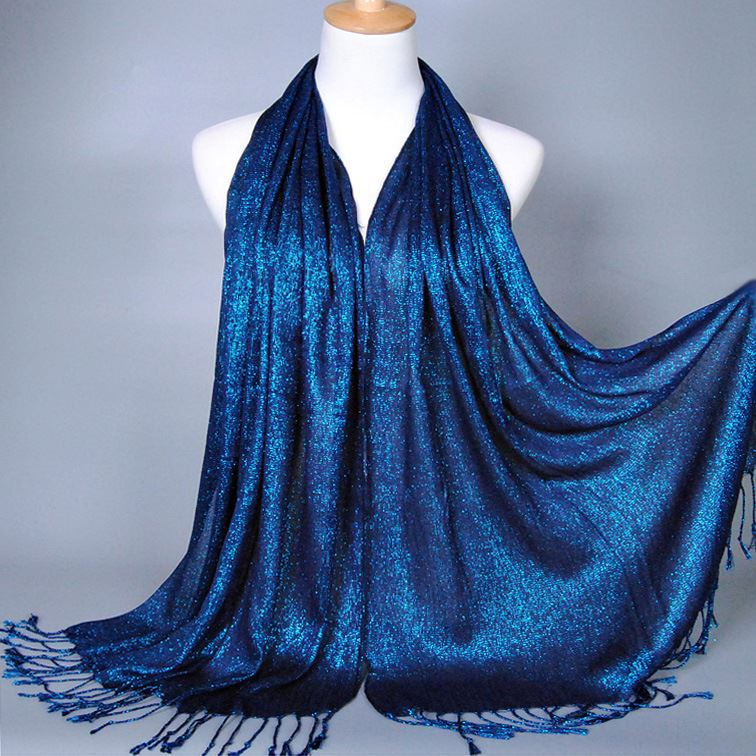 Solid Color with Tassel Hijab Shawl