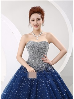 Ball Gown Amazing Sweetheart Sequined Beaded Quinceanera Dress