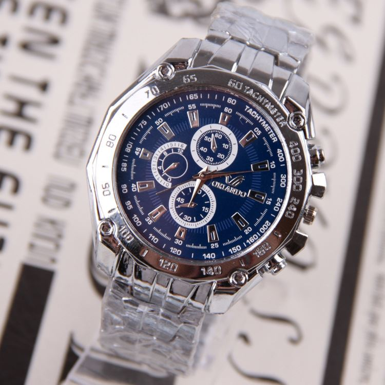 Handsome Round Dial Watch for Men