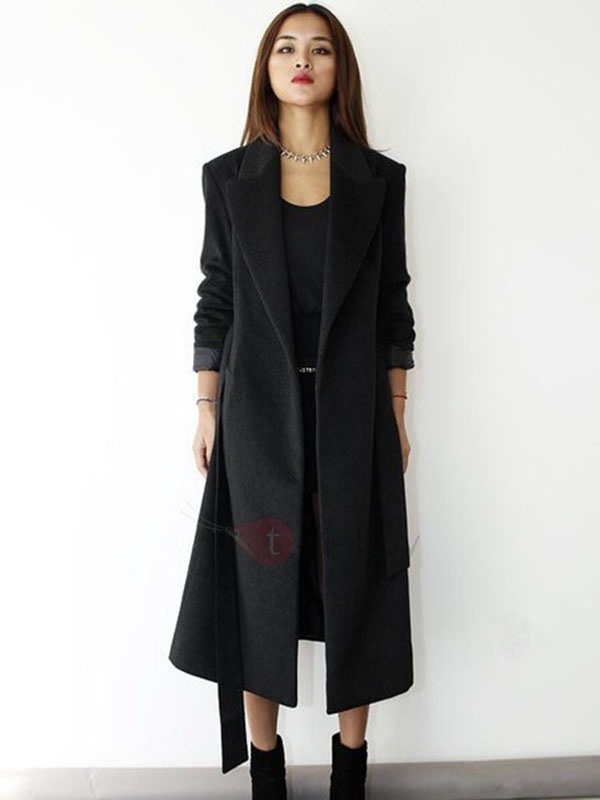 Chic Lapel Long Trench Coat
