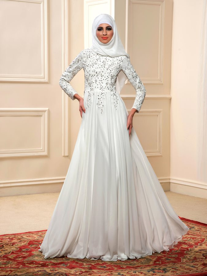 Floor Length A-Line Ivory Long Wedding Dress