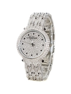 High Quality Starry Crystal Decorated Women's Watch