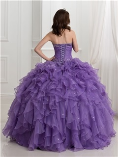 Vintage Beading Cascading Ruffles Ball Gown Quinceanera Dress With Jacket/Shawl