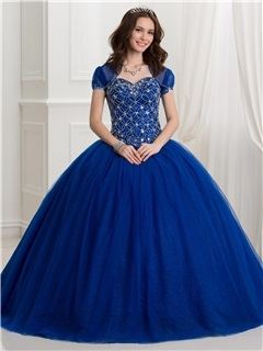 Sweetheart Beading Ball Gown Quinceanera Dress With Jacket 3