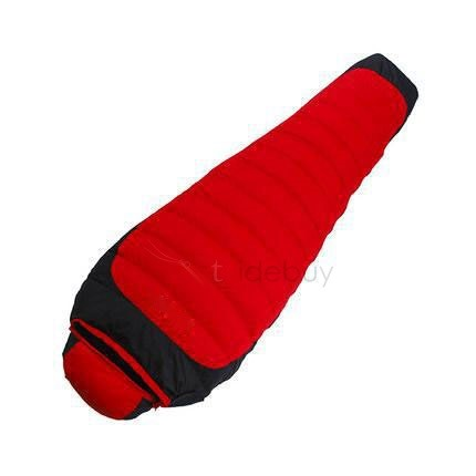 Red Mummy-Style Down Sleeping Bag