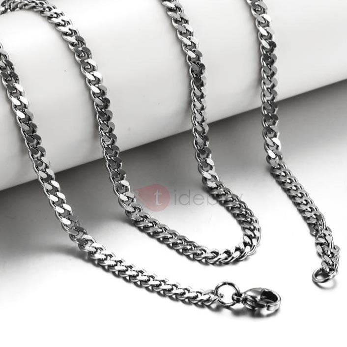 Simple Style Men's Compressed Necklace