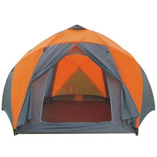 8-Person Waterproof Fiber Glass Pole Cabin Tent