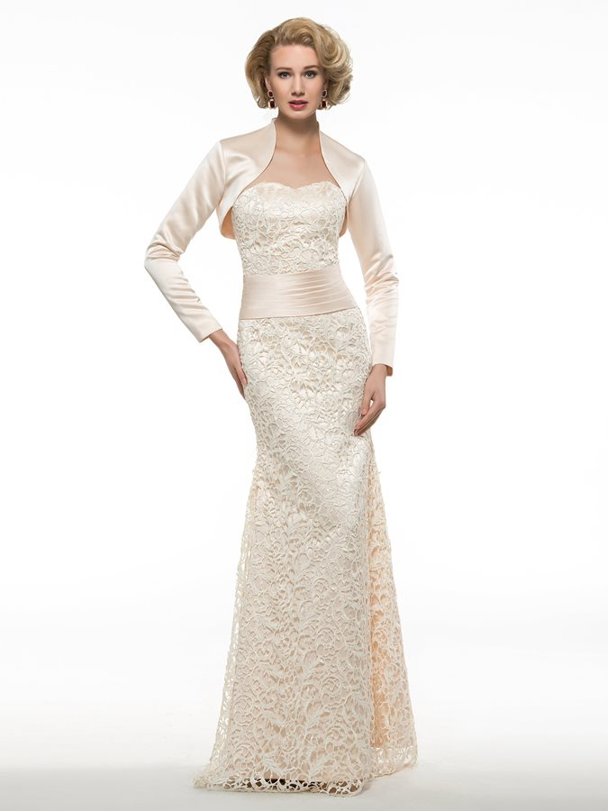 Ruched Sweetheart Lace Mother of the Bride Dress with Jacket