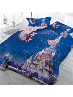 Castle & Santa Claus 4 Piece Bedding Sets