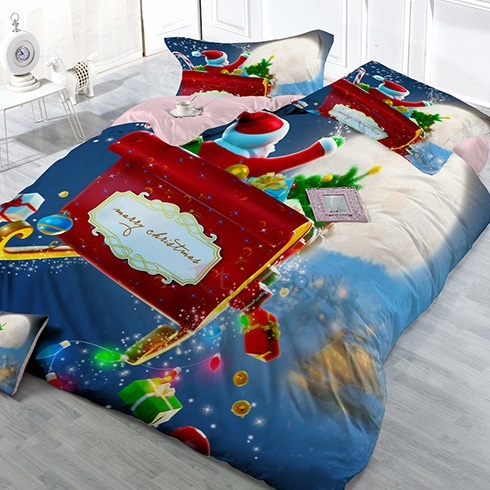 Santa Claus Printed 3D 4 Piece Bedding Sets
