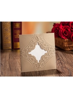 Floral Pattern Greeting Wedding Invitation Cards (20 PCS One Set)