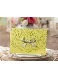 Customized Folding Floral Wedding Invitation Card (20 Pieces One Set)