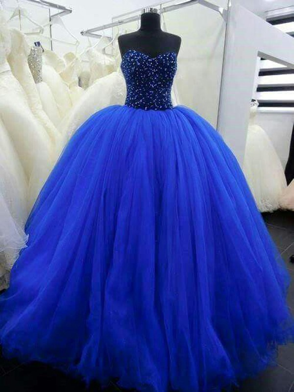 Dramatic Ball GownSweetheart Beading Long Quinceanera Dress