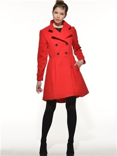 Stylish Collar Big Hem Slim Trench Coat 2