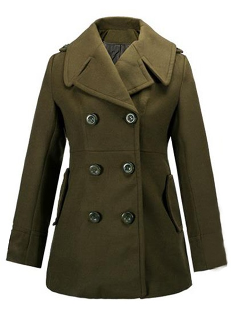 Splendid Fabric Double Breasted Short Trench Coat