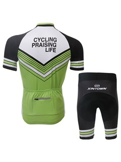 Green Full-Zip Short-Sleeve Bike Outfit