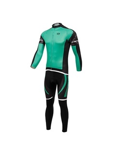Polyester Full-Zip Cycling Outfit