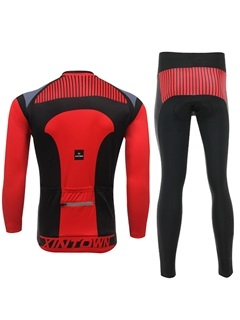 Multi-Color Polyester Long-Sleeve Cycling Outfit