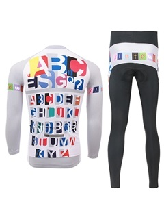 Polyester Long-Sleeve Bike Jersey And Pant