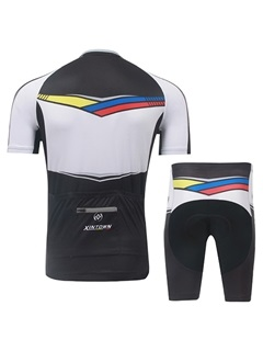 Full-Length Zipper Cycling Jersey And Shorts